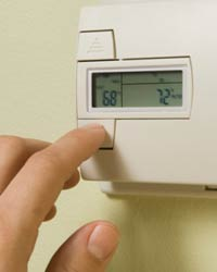 programmable thermostat being used for zoning
